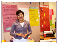 With help from the AIEF program, Kelly earned a college degree and now teaches on her reservation.
