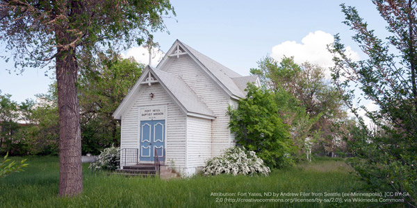 North Dakota: Standing Rock Reservation - Fort Yates Baptist Mission
