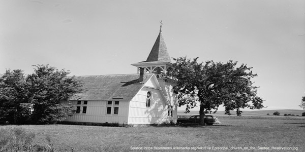 Reservation: Santee Sioux Reservation - church building