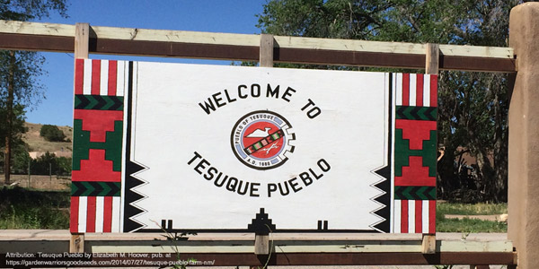 Reservation: Tesuque welcome sign