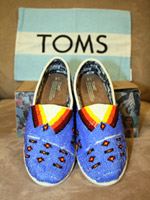 TOMS Shoes can be personalized, such as these with Native American beadwork