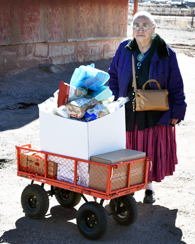 Rose with her food cart