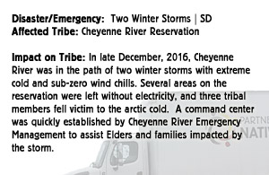 Two Winter Storms - Cheyenne River Reservation