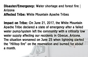 Water Shortage and forest fire - White Mountain Apache Tribe - Arizona